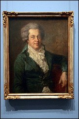 A portrait of Austrian Composer Wolfgang Amadeus Mozart by German painter Johann Edlinger