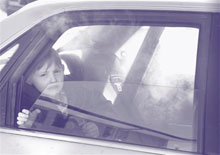 Children from lower-socioeconomic area more likely to be exposed to smoke in cars