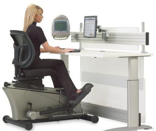 Hammacher Schlemmer releases $8000 Elliptical Machine Office Desk set