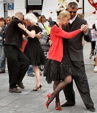Dancing their falls away
