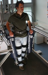 Robot legs helping stroke patients