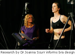 Scientists help develop new sports bra fitting service