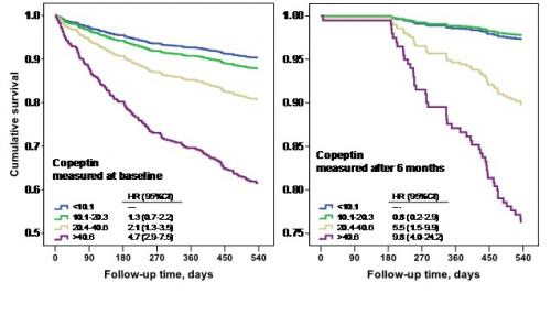 Copeptin predicts prognosis in HF patients