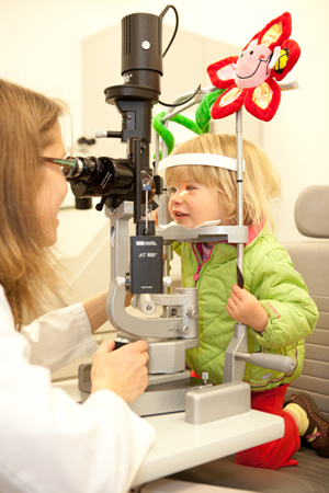 Kid-friendly environment at visual center allows for better eye exam