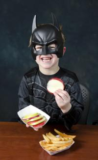 Considering what Batman would eat helps kids' diets