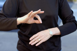 Early exposure to language for deaf children