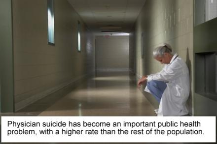 Job stress and mental health problems contribute to higher rates of physician suicide