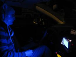 Like coffee, blue light keeps night drivers alert