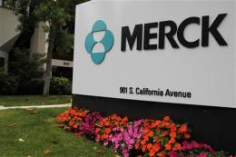 Merck's 2Q net falls on charges, but sales rise