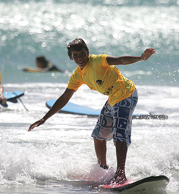 Sport provides swell times for Indigenous youth