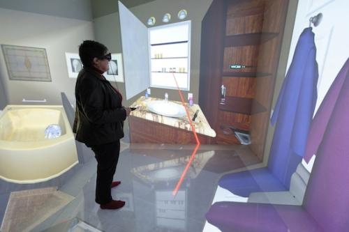 Virtually healthy: 'CAVE' lets researchers experience patients' behavior