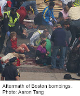 Doc describes medical tent experience of boston marathon