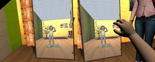 Researchers find form of virtual body impacts perception with immersive virtual reality (w/ Video)