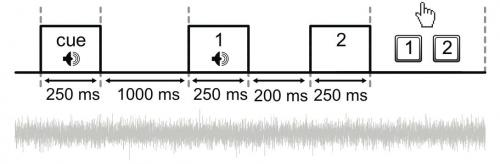 Single tone alerts brain to complete sound pattern
