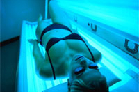 Sunbed skin cancer risk double that of mediterranean midday summer sun