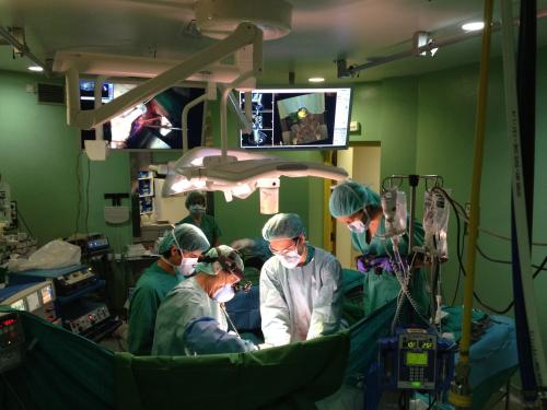 The first cancer operation room with a navigator is created