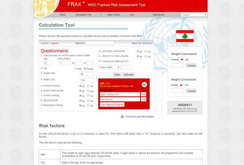 Automated link to national intervention guidance helps doctors interpret FRAX results