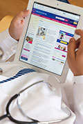 Docs prefer tablets over smartphones for reading articles