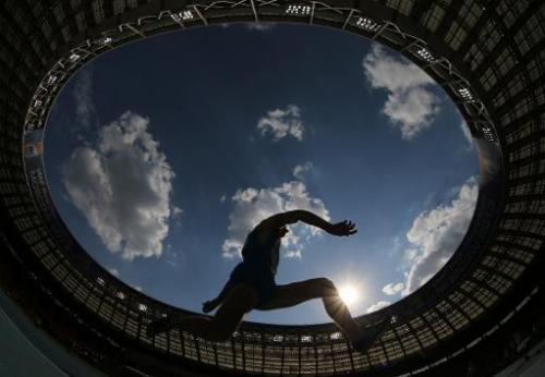 File photo for illustration shows a Russian athlete competing at the 2013 IAAF World Championships at the Luzhniki stadium in Mo