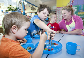 Providing nutritious food and healthy activity levels in childcare environments